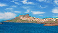 Castelsardo water seen from the sea Stock Photo