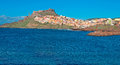 Castelsardo water seen from the sea Stock Photography