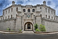 Castillo de la real fuerza in havanna cuba dark clouds Stock Photography