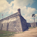 Castillo de san marcos in st augustine florida usa with retro effect Stock Photo