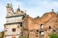 Castillo de staroselskiy en la mirada fija selo en el lviv Foto de archivo libre de regalías