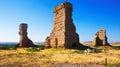 Castillo destruido de palenzuela Fotografía de archivo
