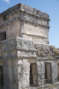Castillo temple tulum at mayan ruins mexico Royalty Free Stock Image