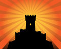 Castle abstract background color illustration Stock Photography