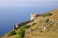 Castle in alanya turkey ichkale Royalty Free Stock Image