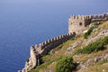 Castle in alanya turkey ichkale at summer Royalty Free Stock Images