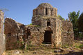 Castle in alanya turkey ruins of a byzantine church the ichkale Stock Photos