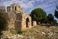 Castle in alanya turkey ruins of a byzantine church the ichkale Royalty Free Stock Photo