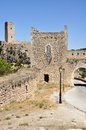 Castle of Alarcon in Spain Stock Image