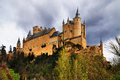Castle alcazar segovia medieval town spain to north madrid Royalty Free Stock Photo