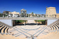 Castle and Amphitheatre at Roquetas del Mar Royalty Free Stock Photo