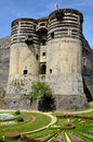 Castle of Angers in France Stock Photo
