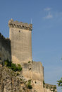 Castle of beaucaire in gard languedoc roussillon Stock Image