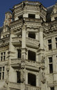 Castle of Blois, renaissance stairway Stock Image