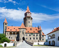 Castle Bouzov, South Moravia region, Czech republic. Royalty Free Stock Photo