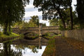 The castle bridge forres this is over river mossat at moray scotland this was shot in autumn Stock Photography