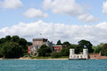Castle on the brownsea island Royalty Free Stock Image