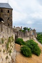 Castle of Carcassonne - south of France Stock Image