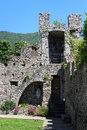Castle Castello di Vezio tower near Varenna at Lake Como, Lake Como, Lombardy Royalty Free Stock Photo