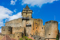 Castle of castelnaud la chapelle france Royalty Free Stock Images