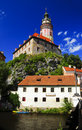 Castle Cesky Krumlov, Czech Republic Stock Photos
