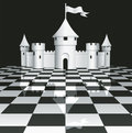 Castle On Chessboard