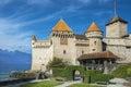 Castle Chillon Chateau de Chillon at Lake Geneva in Montreux, Switzerland Royalty Free Stock Photo