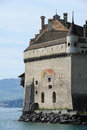 Castle Chillon on lake Leman near Montreux Royalty Free Stock Photo