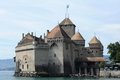 Castle Chillon on lake Leman near Montreux Royalty Free Stock Photos
