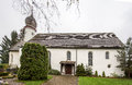 Castle church stein am rhein switzerland with a baroque curved tower Royalty Free Stock Photo