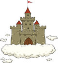 Castle on a cloud white background Stock Photography