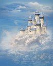 Castle in the clouds fantasy Royalty Free Stock Photo
