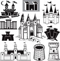 Castle Collection Royalty Free Stock Photo