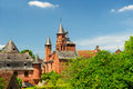 Castle in Collonges la rouge Royalty Free Stock Photos