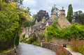 Castle Combe street. Unique old English village Royalty Free Stock Photo
