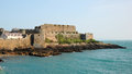 Castle cornet coronet guernsey channel islands Royalty Free Stock Photo