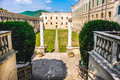 Castle courtyard in the euganean hills area padova province ital Royalty Free Stock Photo