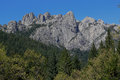 Castle crags beautiful view of the at national park in dunsmuir california on a clear blue sky day Royalty Free Stock Image