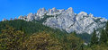 Castle Crags panorama Royalty Free Stock Photo