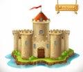 Castle, 3d vector icon