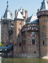 Castle de haar the netherlands decorated with coats of arms is a medieval fortress towers ramparts canals and drawbridges Royalty Free Stock Photography