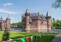 Castle de haar the netherlands is a medieval fortress with towers ramparts canals and drawbridges Stock Photo