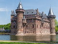Castle de haar the netherlands is a medieval fortress with towers ramparts canals and drawbridges and is surrounded by a moat Royalty Free Stock Image