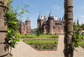 Castle de haar the netherlands view on from its gardens Royalty Free Stock Photography
