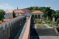 Castle decin czech republic roses garden in Royalty Free Stock Photo