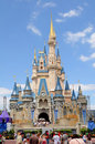Castle at Disney World in ORlando Royalty Free Stock Photos