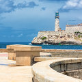 The castle of El Morro in Havana Stock Images