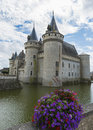 Castle with flowers near Loire Royalty Free Stock Photo