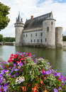 Castle with flowers Royalty Free Stock Photo