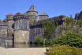 Castle of fougères in france fortifications commune and a sub prefecture the ille et vilaine department brittany northwestern Royalty Free Stock Images